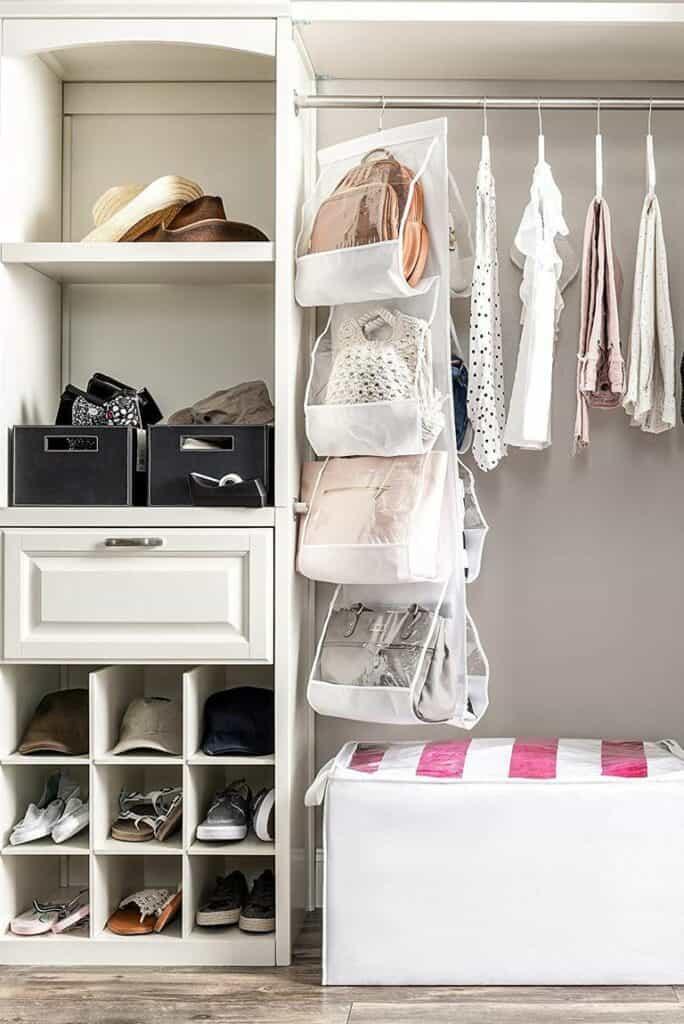 purse closet organizing ideas
