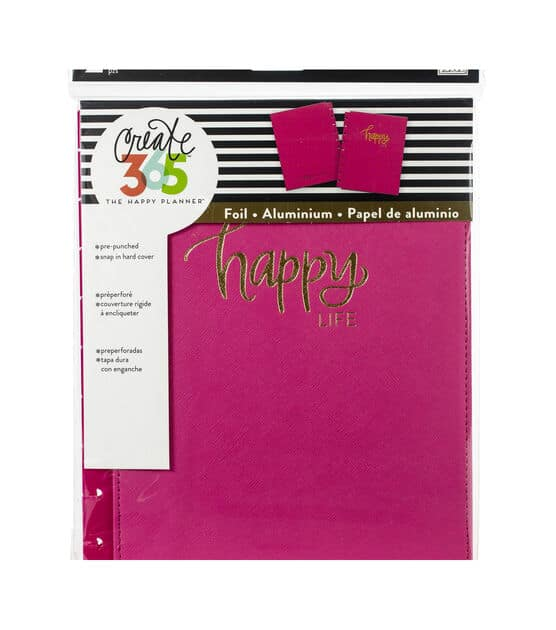 Happy Planner Medium Snap In Hard Planner Cover Pink Happy Life
