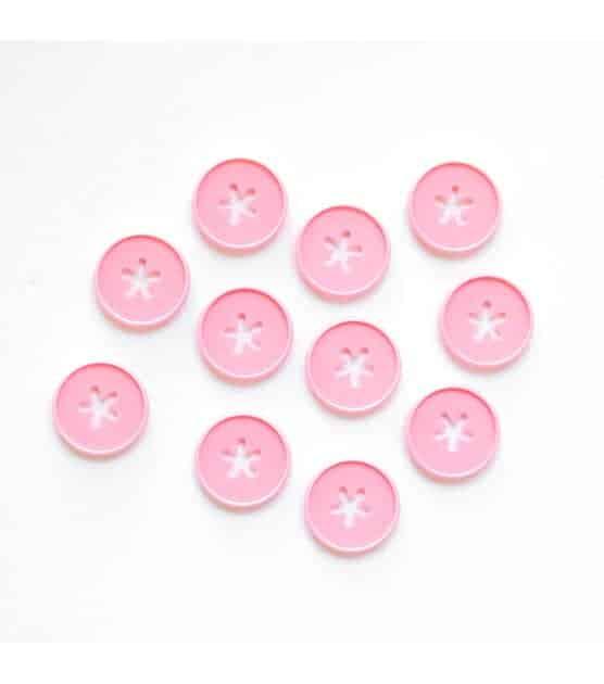 The Happy Planner Flower Icon Bubblegum Medium Plastic Discs