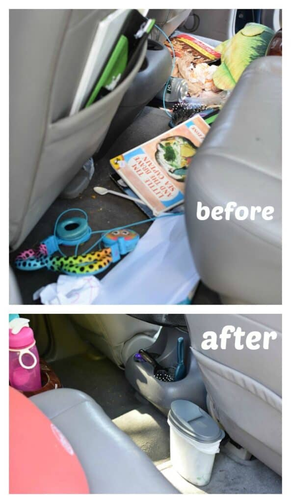 car trash can from ccereal container