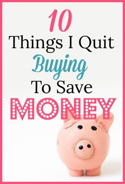 10 Things to stop buying to save money.