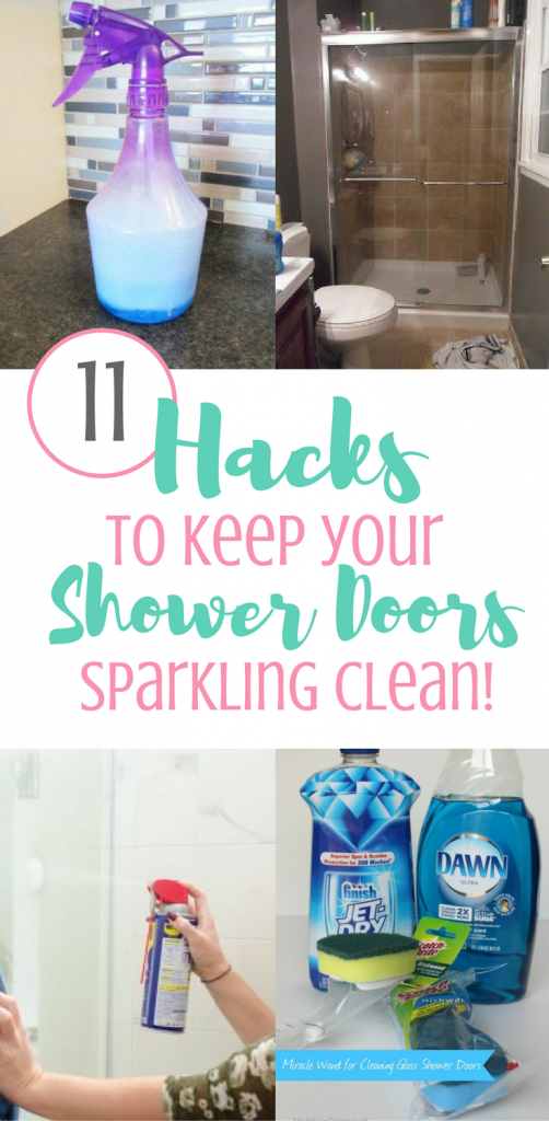 11 Hacks To Keep Your Shower Doors Clean - Organization Obsessed