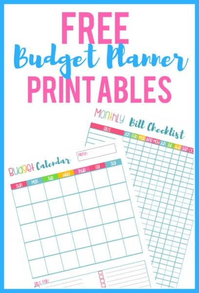 Free Budget Planner Printables!