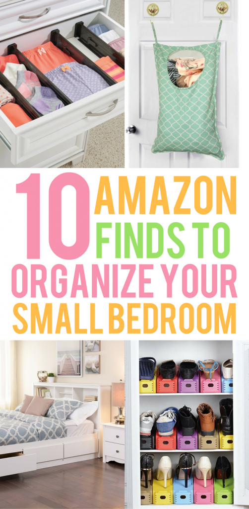 10 amazon finds that will organize your small bedroom