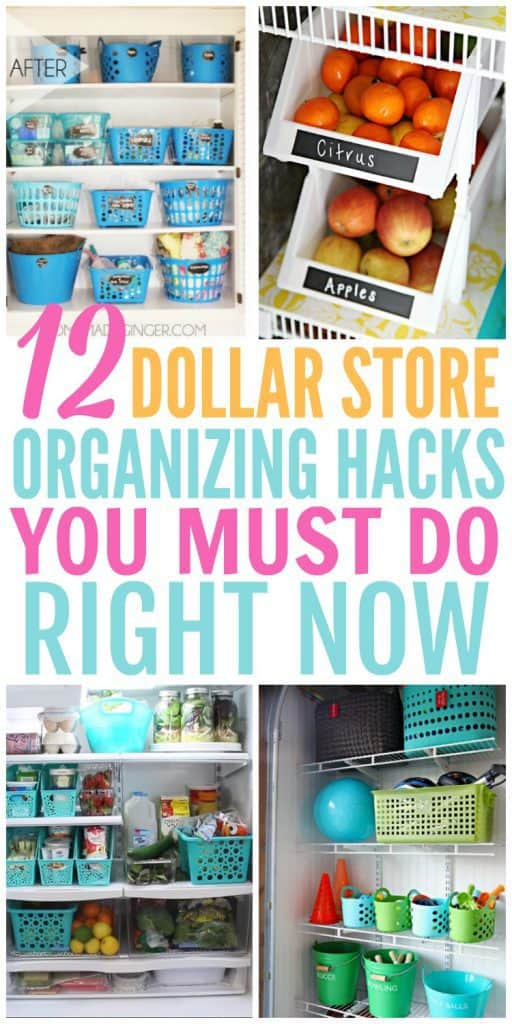 12 Dollar Store Organizing Hacks You Must Do Right Now