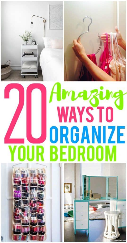 20 Ways To Organize Your Bedroom And Create More Storage Space