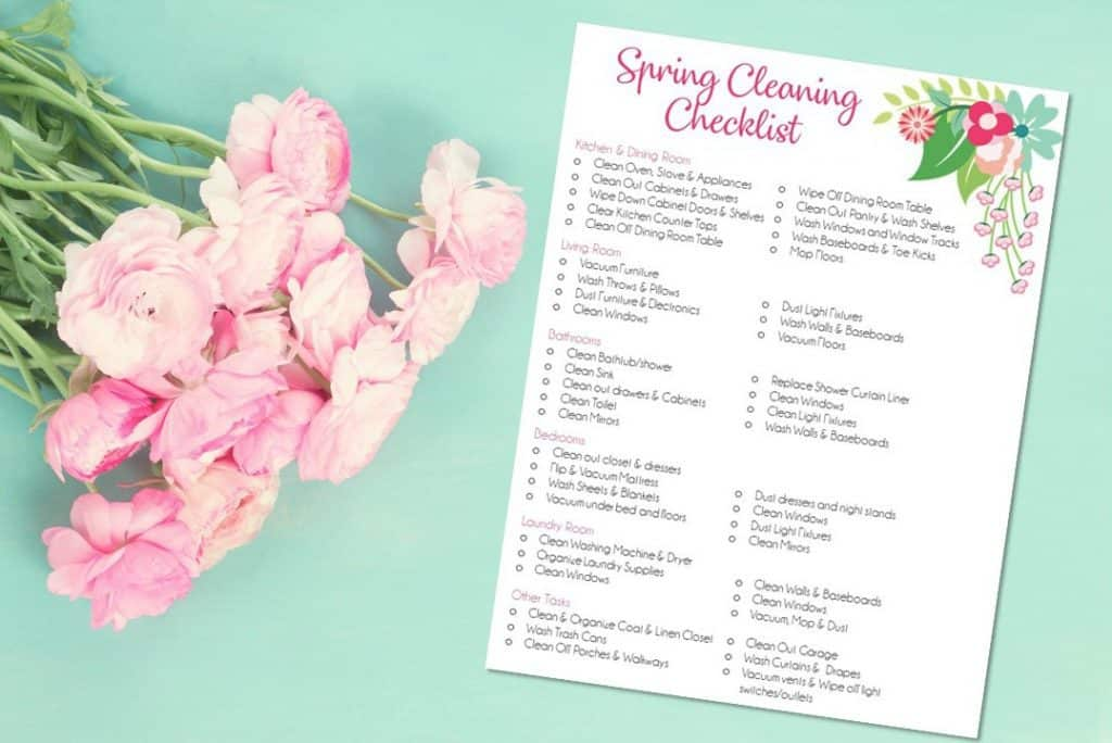 Spring Cleaning Checklist To Help You Spring Clean Easily and Efficiently