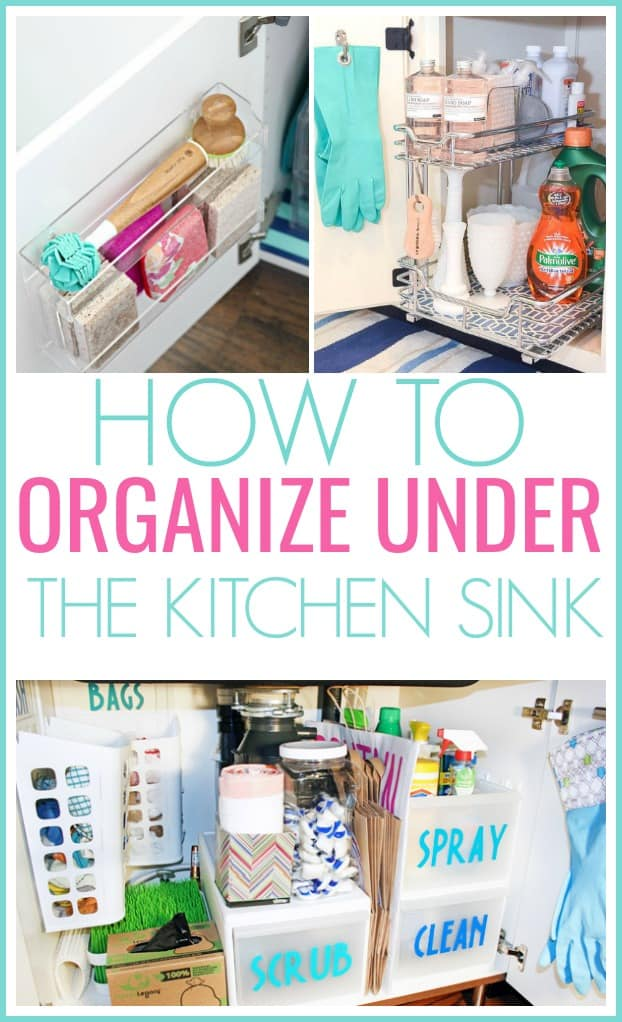Organize Under The Kitchen Sink