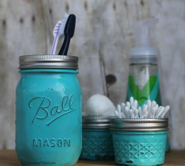 Mason Jar Organization