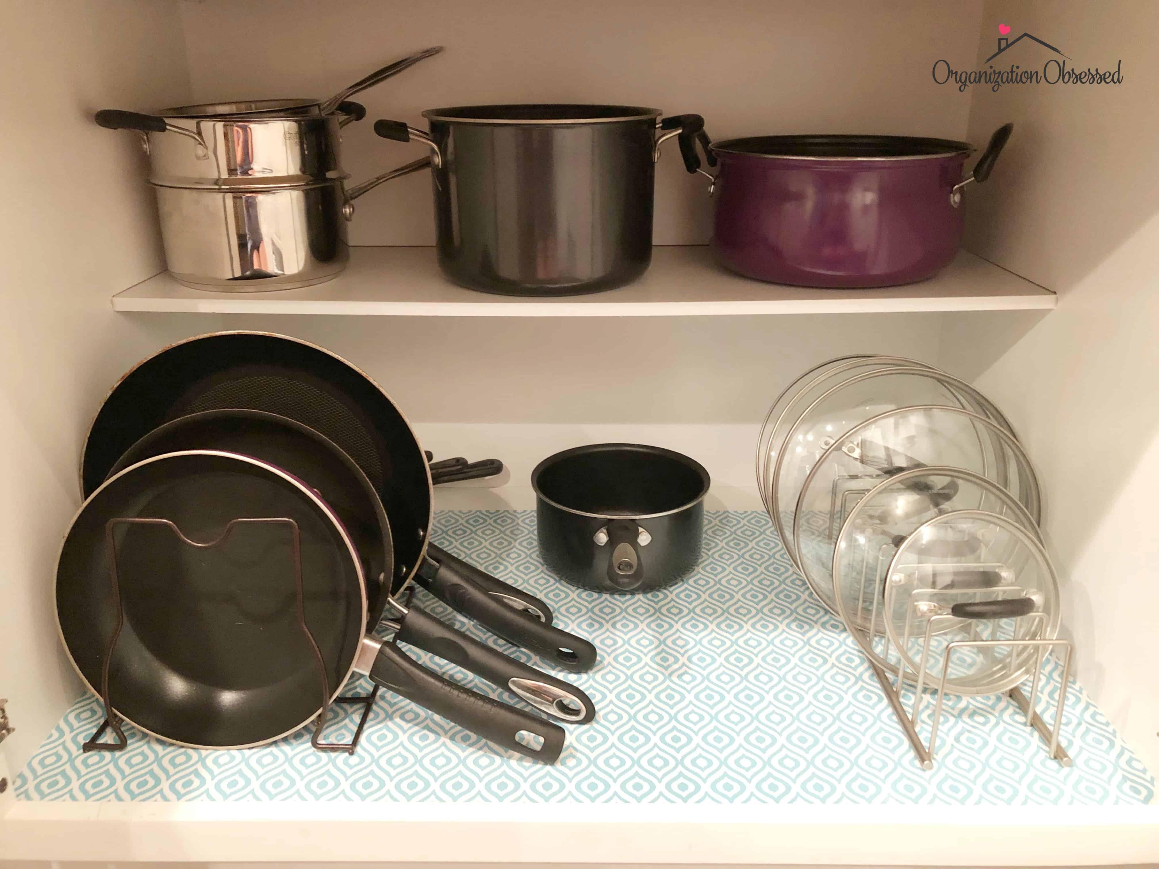 Pots & Pans Kitchen Organizer for less than $20