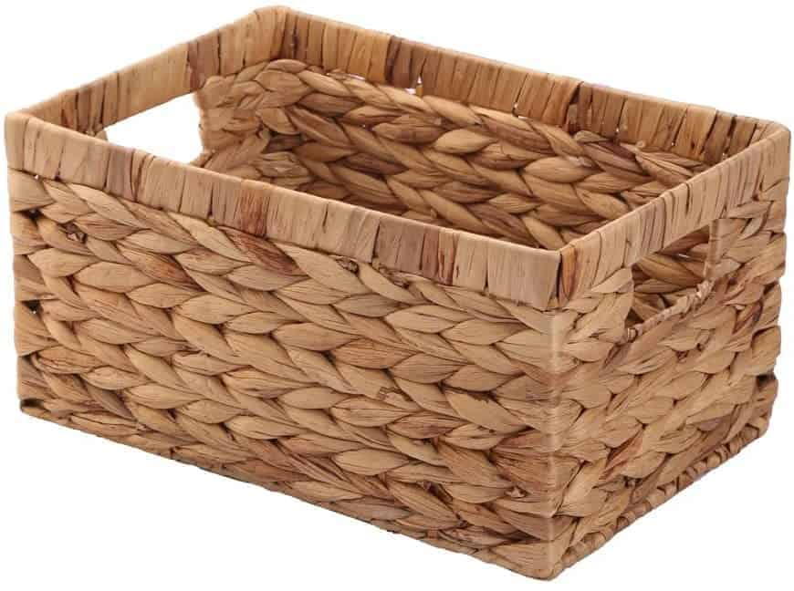 KINGWILLOW Basket Box Woven Natural
