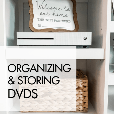 DVD Storage Idea for a Clutter Free Entertainment Center