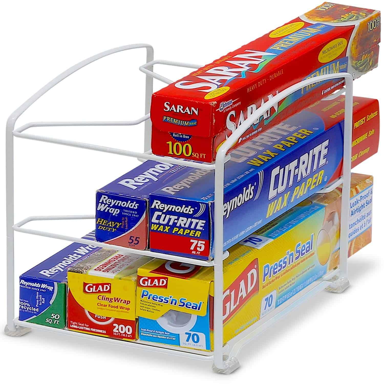 Saran Wrap Rack Kitchen Organizer for less than $20