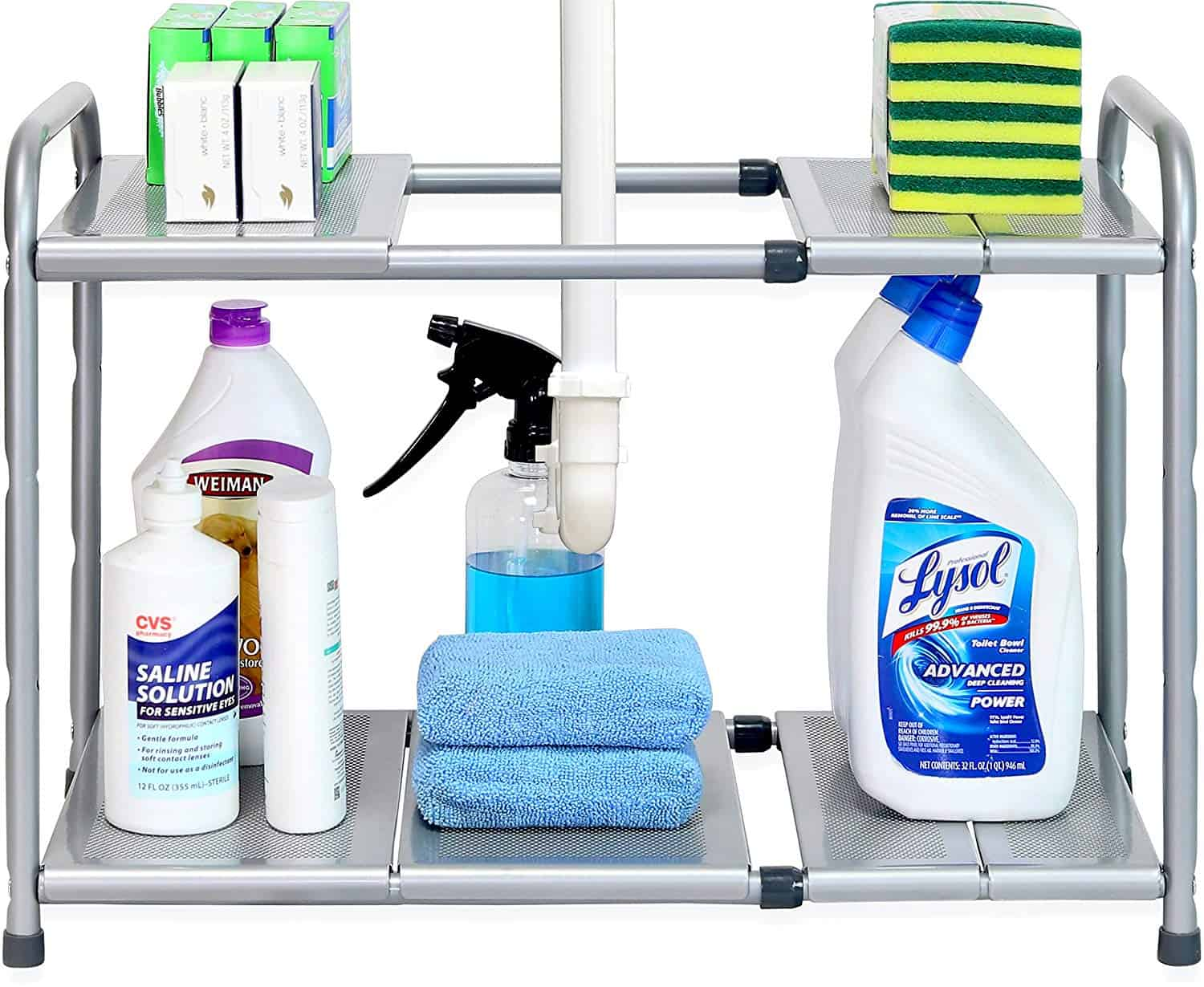 Under the sink kitchen organizer for less than $20