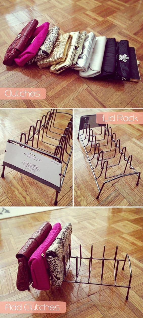 closet ideas for clutches