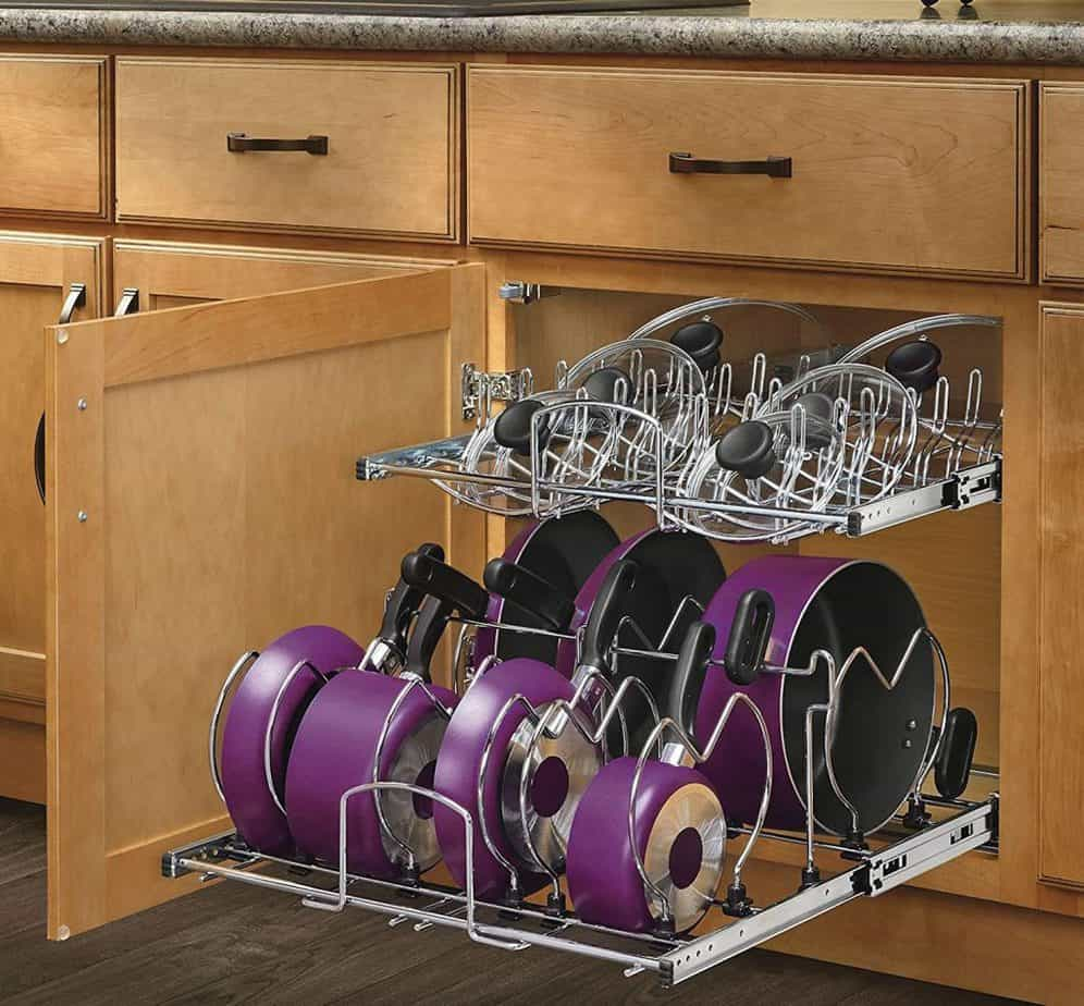 11 Genius Ways To Organize Pots and Pans