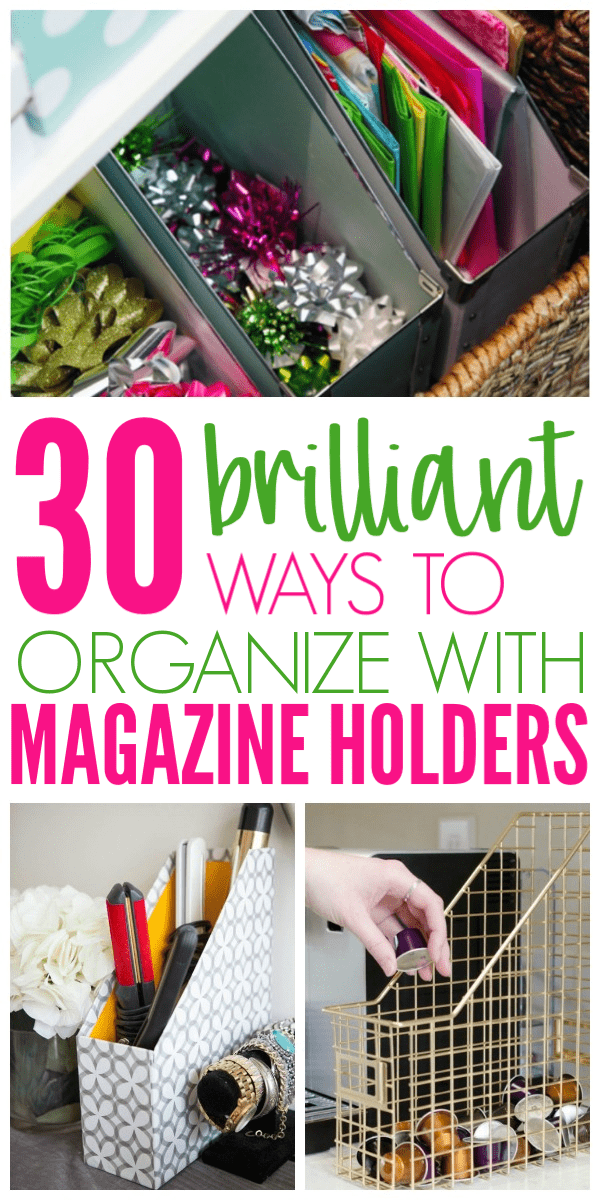 30 Clever Ways To Organize With Magazine Holders