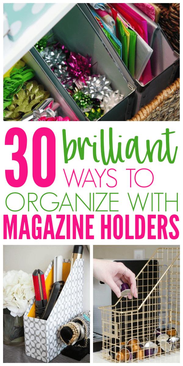 Genius Ways To Organize With Magazine Holders