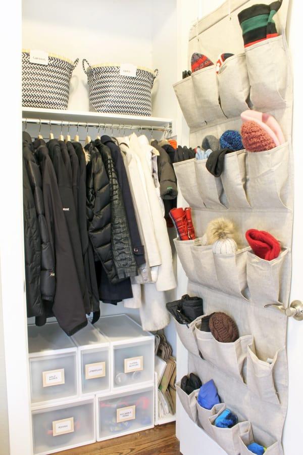 coat closet organizing ideas