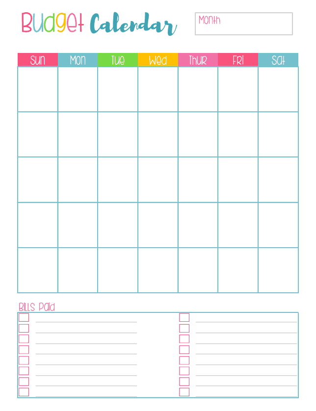 Free Budget Planner Printables