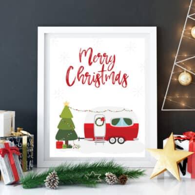 Christmas Camper Printable