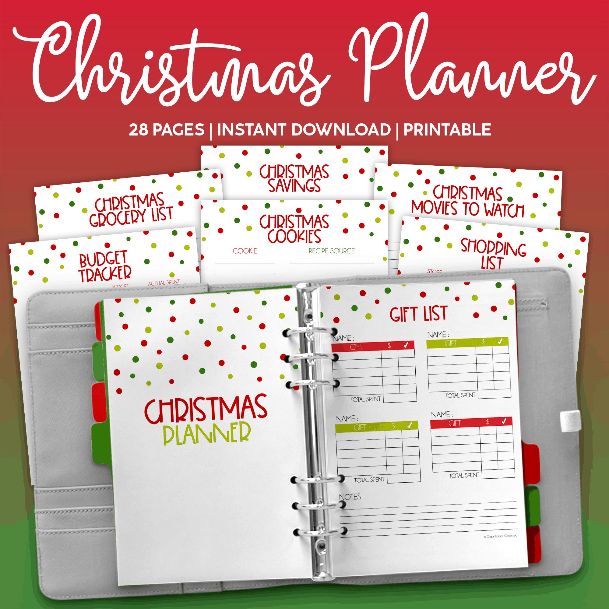 Christmas Planner Printables