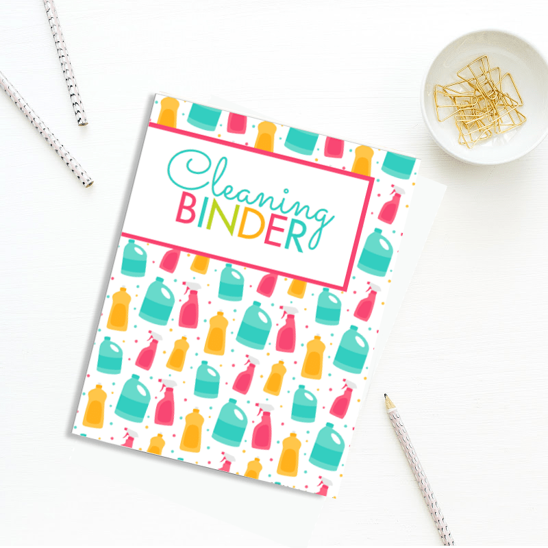 Cleaning Binder Printable Planner