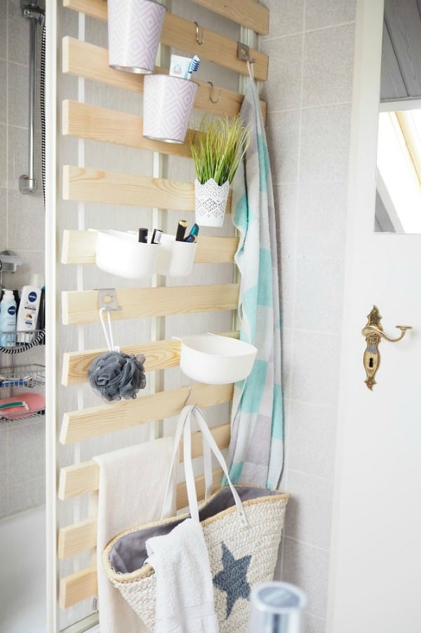 Ikea organizing hacks vertical bed slats