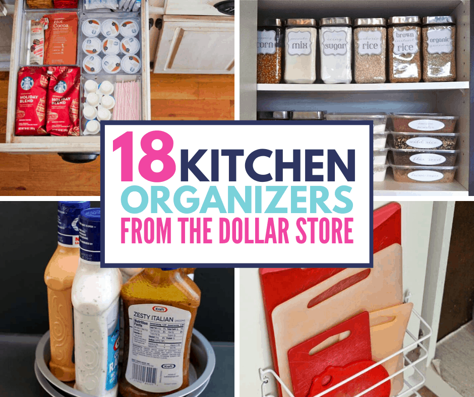 18 Genius Kitchen Organizing Ideas From The Dollar Store Organization Obsessed