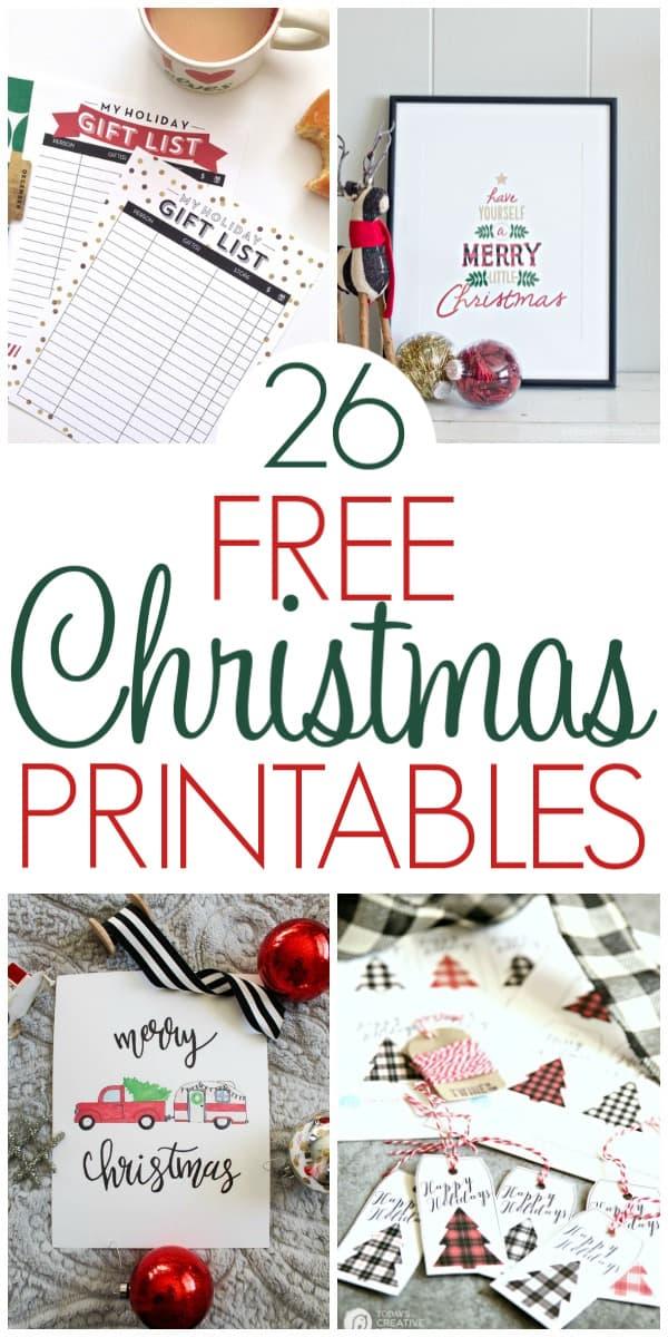 26 Free Christmas Printables