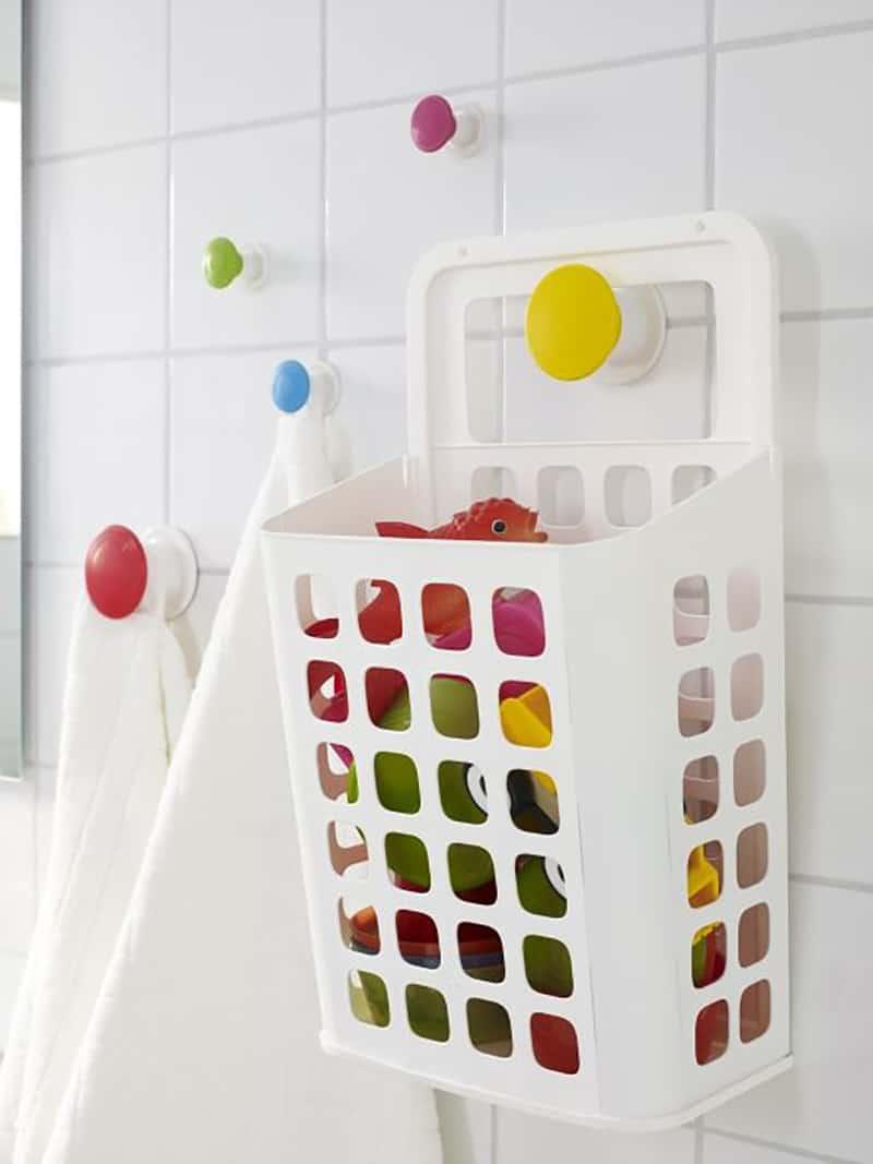Bath toy organization from Ikea wastebasket