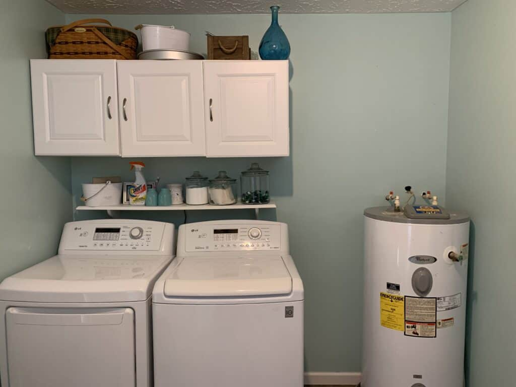 Before laundry room remodel