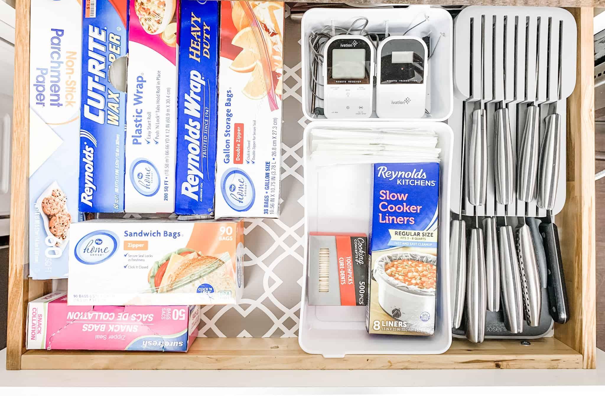 Kitchen drawer organizing ideas.