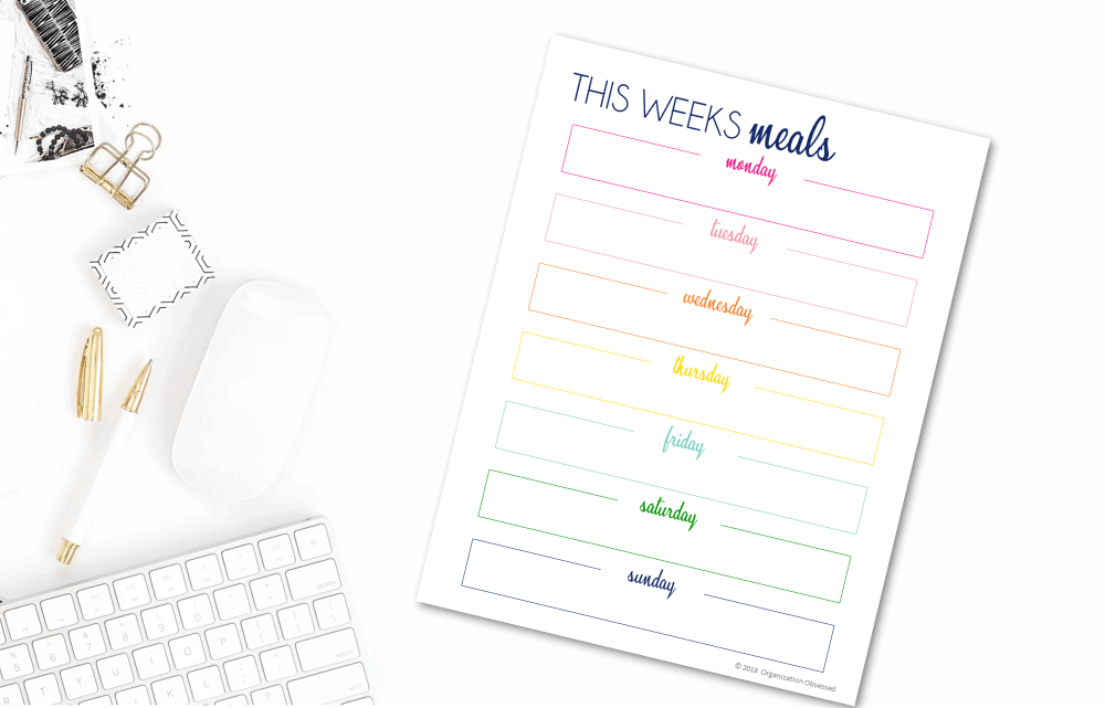 Free Meal Planning Printable