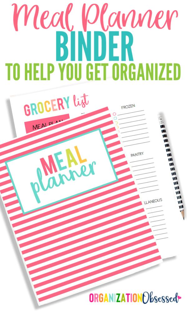 Meal Planning Printable Binder