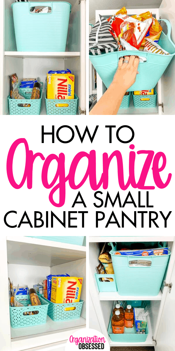 Organizing a small pantry cabinet