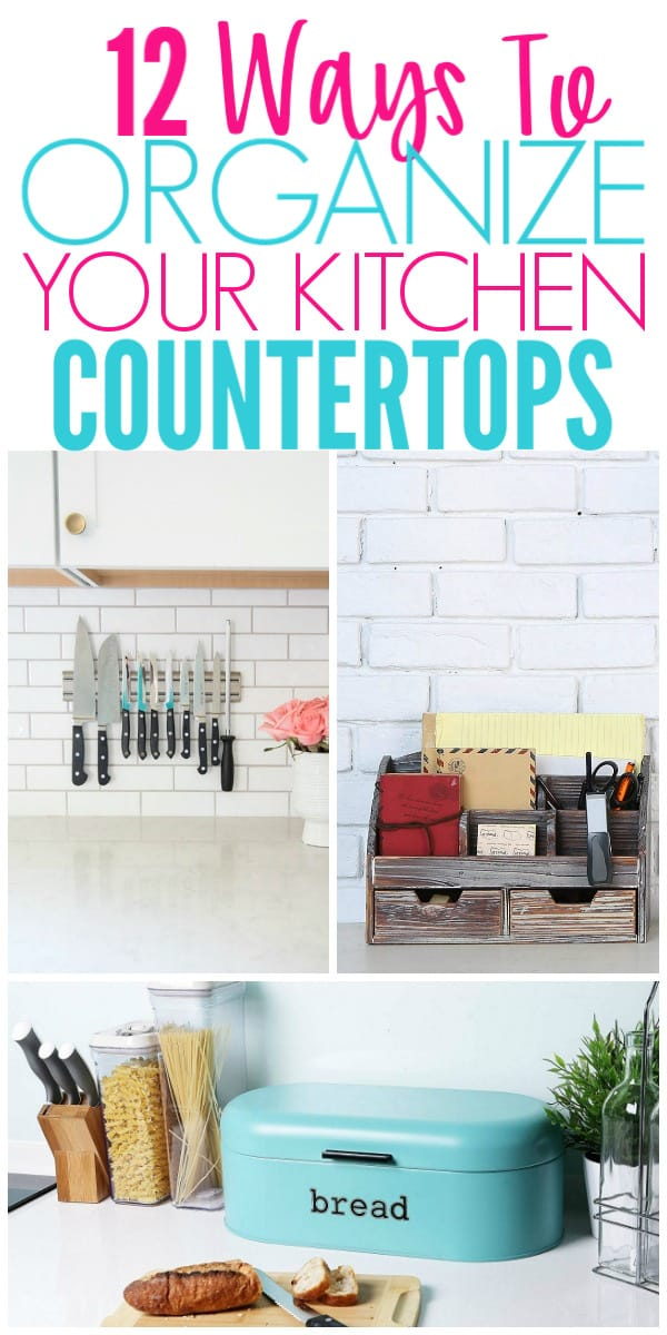 12 Ways To Organize Kitchen Countertops Organization Obsessed