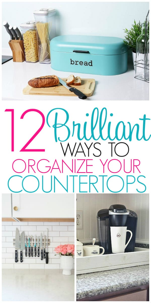 12 Ways To Organize Kitchen Countertops Organization Obsessed