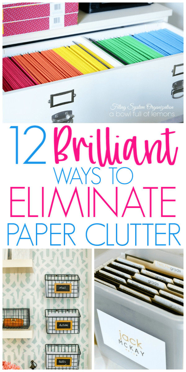 Brilliant Ways To Organize Paperwork and Paper Clutter