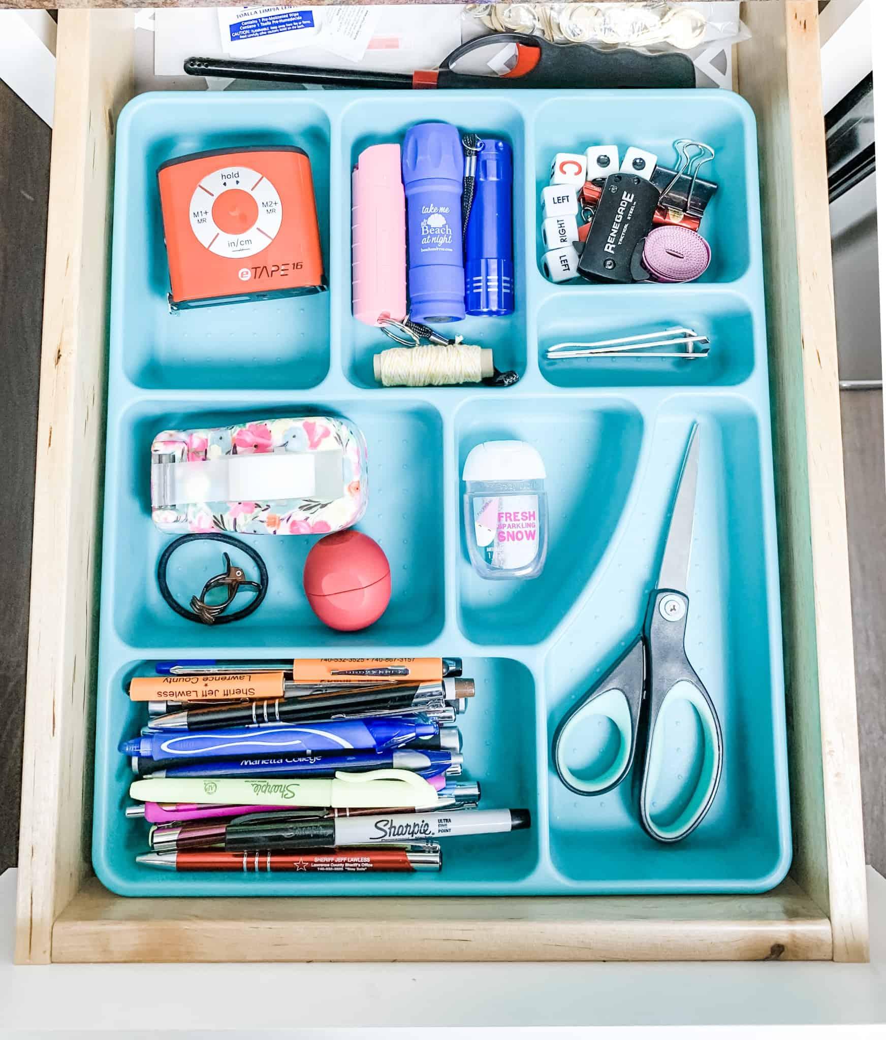 Junk drawer organizing ideas