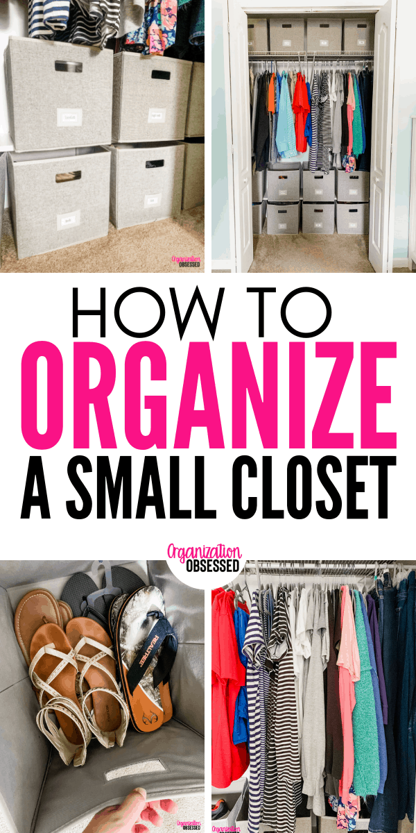 Organizing A Small Bedroom Closet Organization Obsessed