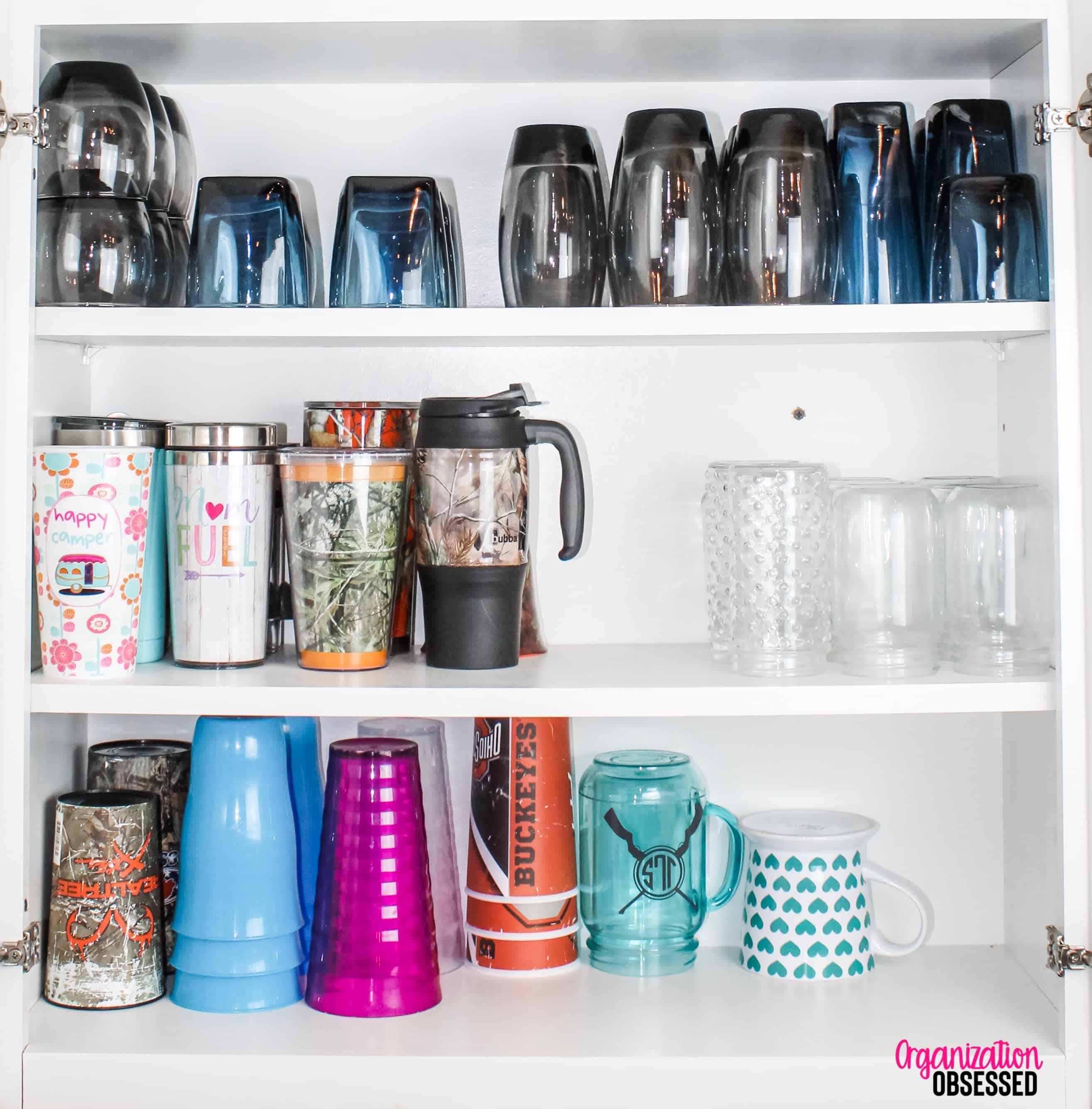 Organizing-kitchen-cabinets - Organization Obsessed
