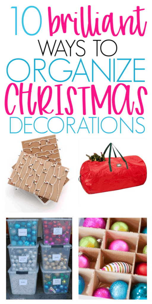 brilliant ideas for organizing christmas decorations