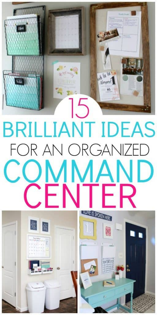 Command Center Ideas To Get Organized