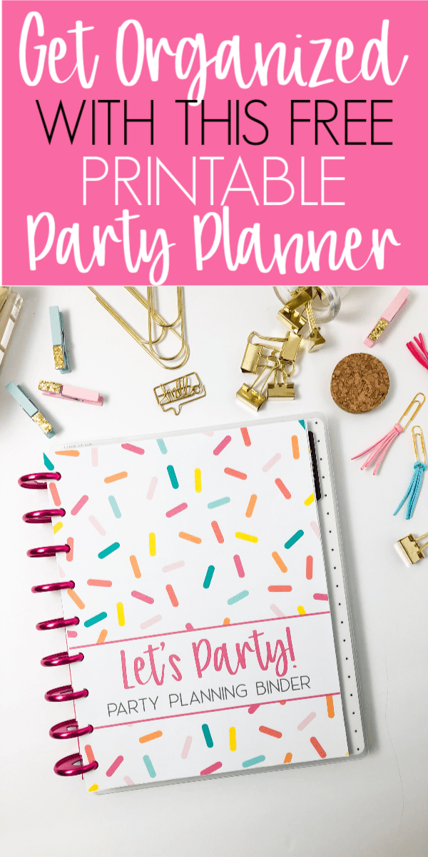 image about Party Planner Printable titled Totally free Printable Celebration Planner - Business Obsessed