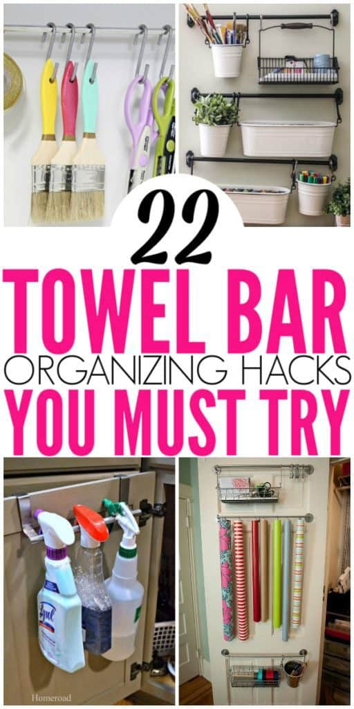 22 Brilliant Towel Bar Organization Hacks