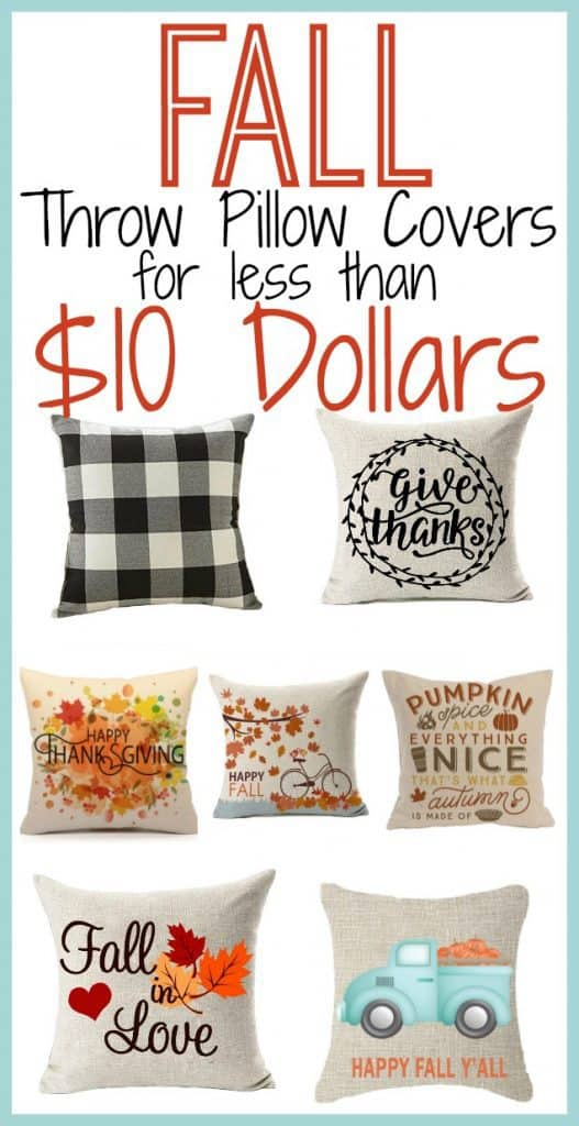 Cheap Fall Throw Pillows To Decorate For Fall