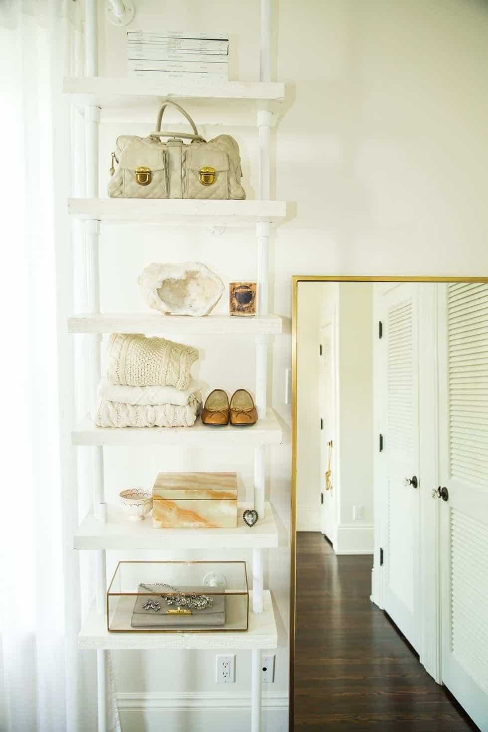 closet organization ideas using shelving