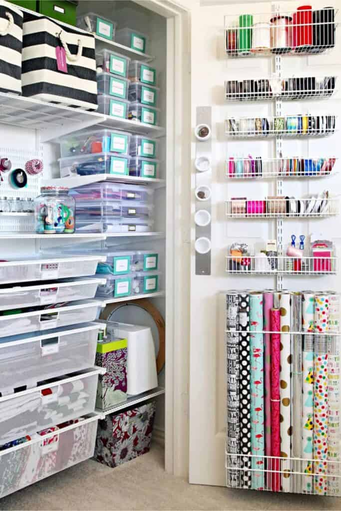 Craft Room Organization Ideas for the Closet