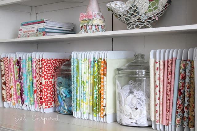Fabric Craft Room Organization Ideas